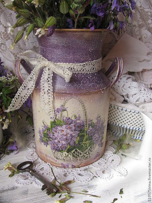 """Кухня ручной работы. Ярмарка Мастеров - ручная работа. Купить """" Fragrance..."""" Бидон.. Handmade. Сиреневый, ваза для цветов"""