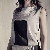Одежда handmade. Livemaster - original item Stylish Grey top in fine tweed. Handmade.