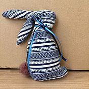 Мягкие игрушки ручной работы. Ярмарка Мастеров - ручная работа Текстильная игрушка ЗАЯЦ. Handmade.