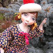 Куклы и игрушки ручной работы. Ярмарка Мастеров - ручная работа Подвижная куколка из папье маше.... Handmade.