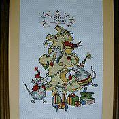 """Подарки к праздникам ручной работы. Ярмарка Мастеров - ручная работа Картина """"Новогодняя вечеринка"""". Handmade."""