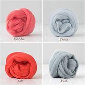 Wool handmade. Livemaster - original item Merino 18 micron. Coral.Veil.Varnish.50g. Handmade.