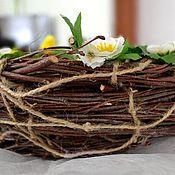 Подарки к праздникам ручной работы. Ярмарка Мастеров - ручная работа Гнездо пасхальное украшение для декора стола на Пасху. Handmade.