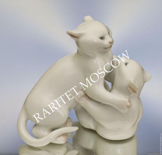 Винтажные предметы интерьера. Ярмарка Мастеров - ручная работа. Купить Кот кошка коты редкость статуэтка фарфор Дания 2. Handmade.