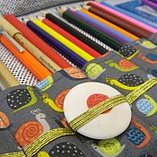 Канцелярские товары handmade. Livemaster - original item Pencil case for pencils and pens. Handmade.