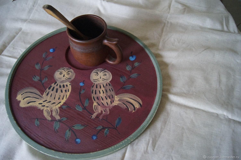Tray ' Siberian owls', Trays, Seversk,  Фото №1