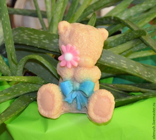 """Мыло ручной работы. Ярмарка Мастеров - ручная работа. Купить Мыло ручной работы """"Медвежонок Тедди"""". Handmade. Голубой"""