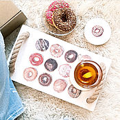Для дома и интерьера handmade. Livemaster - original item Tray with stands for kitchen wood Donut. Handmade.