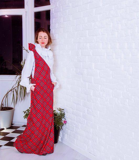 Платья ручной работы. Ярмарка Мастеров - ручная работа. Купить Зима в Норфолке - шерстяной сарафан. Handmade. Бордовый, платье из шерсти