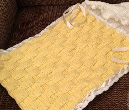 Для новорожденных, ручной работы. Ярмарка Мастеров - ручная работа. Купить Конверт для новорожденного. Handmade. Желтый, конверт для малыша, для детей