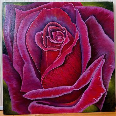 """Картины и панно ручной работы. Ярмарка Мастеров - ручная работа Картина """"Бархат бордовой розы"""". Handmade."""