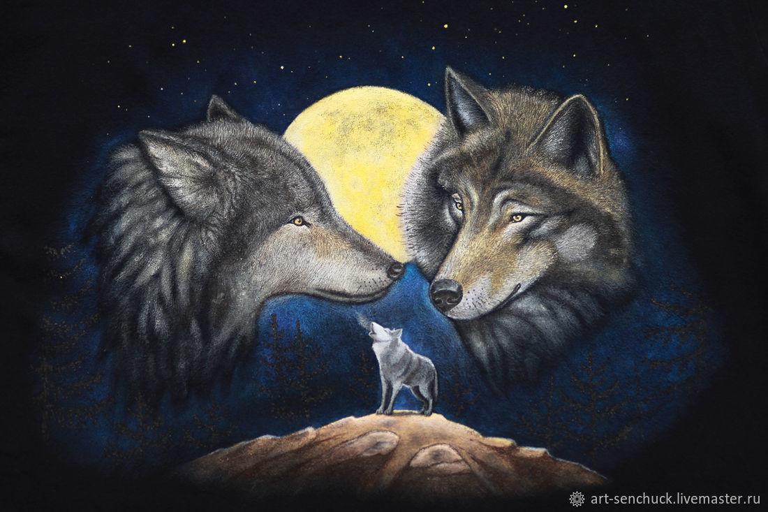 Нарисованные волки своими руками фото 827