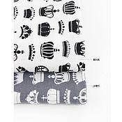Материалы для творчества ручной работы. Ярмарка Мастеров - ручная работа Ткани-компаньоны Короны черные/серые. Handmade.