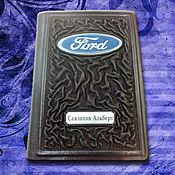 """Канцелярские товары handmade. Livemaster - original item Обложка на автодокументы из кожи """"Ваше величество"""", коричневая. Handmade."""