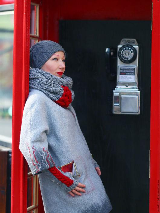 """Шарфы и шарфики ручной работы. Ярмарка Мастеров - ручная работа. Купить шарф -снуд и митенки """"Я уеду жить в Лондон!"""". Handmade."""