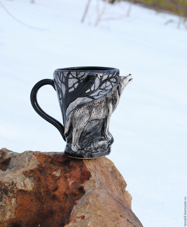 Mug 'Wolf', Mugs and cups, Shigony,  Фото №1