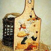 Посуда handmade. Livemaster - original item Cutting Board Chef-virtuoso. Handmade.