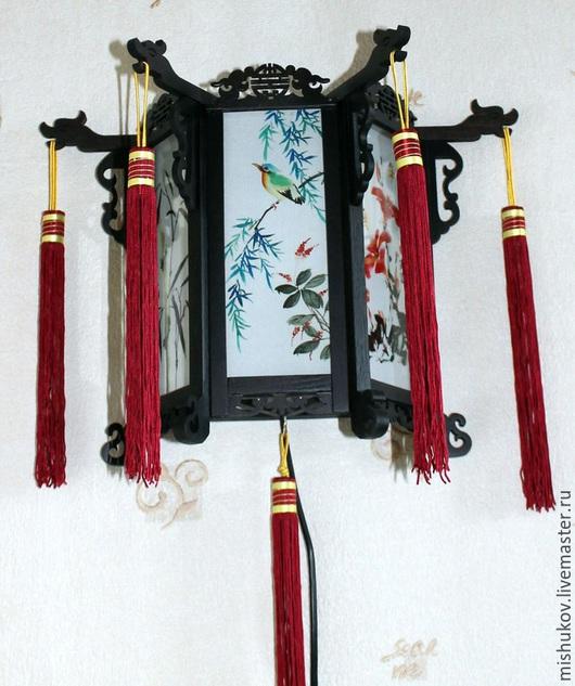 Освещение ручной работы. Ярмарка Мастеров - ручная работа. Купить Китайский фонарь. Handmade. Коричневый, светильник ручной работы