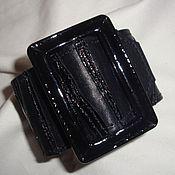 Украшения ручной работы. Ярмарка Мастеров - ручная работа Браслет кожаный с пряжкой Черный. Handmade.