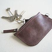 Сумки и аксессуары handmade. Livemaster - original item Genuine leather Housekeeper (Tobacco). Handmade.
