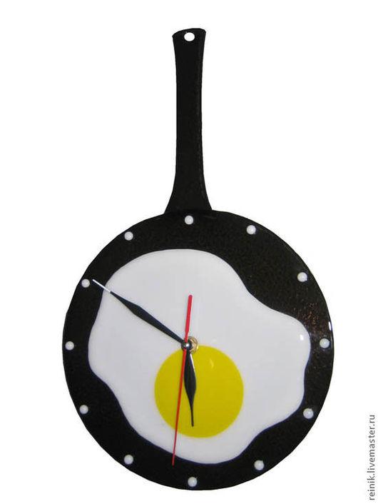 "Часы для дома ручной работы. Ярмарка Мастеров - ручная работа. Купить Часы ""Яичница"". Handmade. Часы, часы настенные"