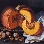 Картины и панно ручной работы. Ярмарка Мастеров - ручная работа Тыква и орехи. Handmade.
