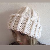 Аксессуары handmade. Livemaster - original item Knitted hat. Body cap Pumpkin. White cap. Handmade.