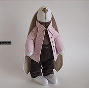 Куклы и игрушки ручной работы. Ярмарка Мастеров - ручная работа Зайка в пиджачке. Handmade.