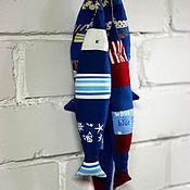 Для дома и интерьера ручной работы. Ярмарка Мастеров - ручная работа Текстильные лоскутные рыбки синие и голубые. Handmade.