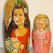 Подарки к праздникам ручной работы. Ярмарка Мастеров - ручная работа Матрешка семейная юбилейная высотой 20 см из 2 кукол.. Handmade.