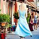 Платья ручной работы. Понт -Авен голубой. MeShee Woman. Интернет-магазин Ярмарка Мастеров. Небесный цвет, платье