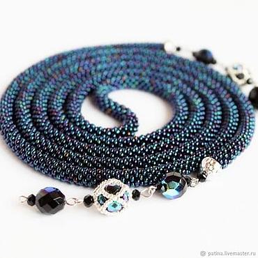 Decorations handmade. Livemaster - original item Lariat beaded Kosmos tie belt. Handmade.