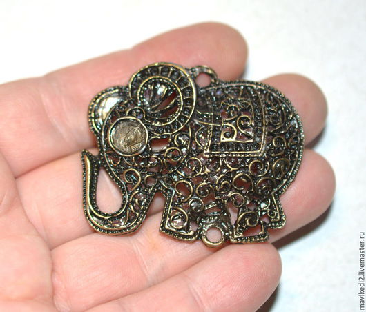 """Для украшений ручной работы. Ярмарка Мастеров - ручная работа. Купить подвеска """"слон""""/ античная бронза (ост. 1 шт.). Handmade."""