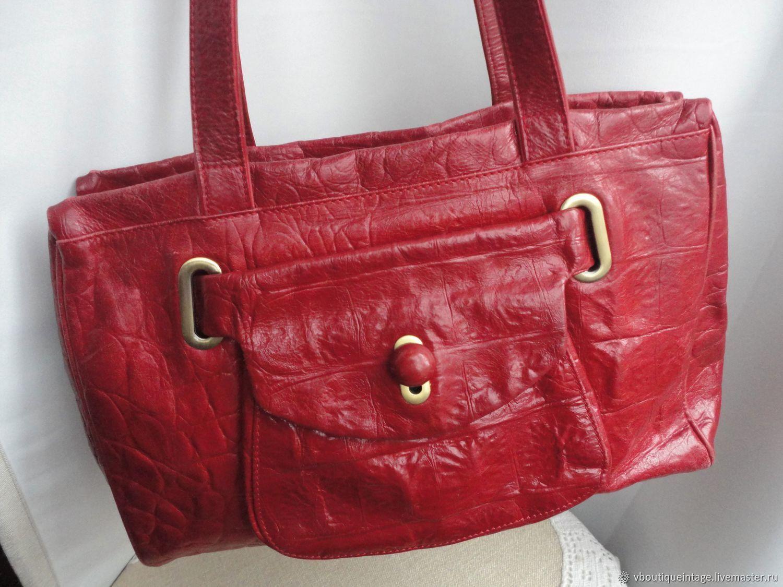 Винтаж: Кожаная сумка. Италия, Сумки винтажные, Калевала,  Фото №1