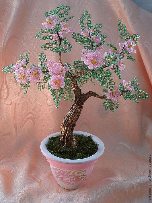 Дерево из бисера Сакура высота 35 см.(Татьяна)