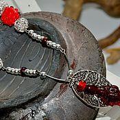 Украшения ручной работы. Ярмарка Мастеров - ручная работа подвеска -Бордовый плод. Handmade.