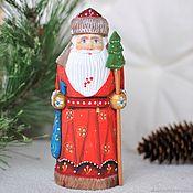 Подарки к праздникам handmade. Livemaster - original item Carved Santa Claus 16cm 3 kinds. Handmade.