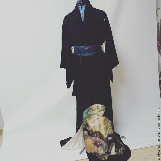 """Этническая одежда ручной работы. Ярмарка Мастеров - ручная работа. Купить """"Воспоминания о Фудзияме"""". Handmade. Черный, этноодежда, ручная работа"""