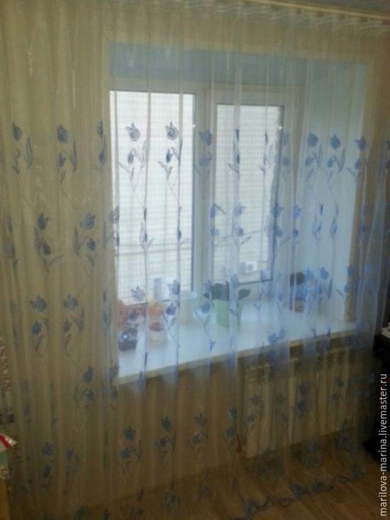 Купить органзу с вышивкой на шторы