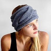 Повязки ручной работы. Ярмарка Мастеров - ручная работа Теплая объемная вязаная повязка на голову. Handmade.
