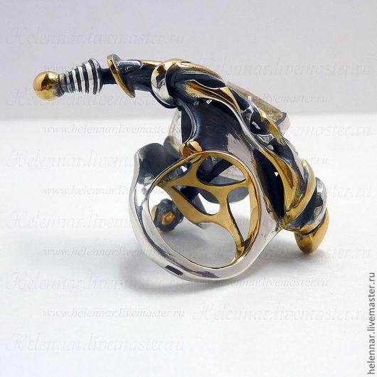 """Кольца ручной работы. Ярмарка Мастеров - ручная работа. Купить Кольцо """"Космический Х..й"""". Handmade. Космос, авторские украшения"""