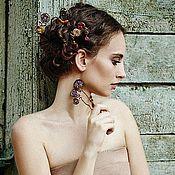 Украшения ручной работы. Ярмарка Мастеров - ручная работа Frames. Шпильки для волос. Handmade.