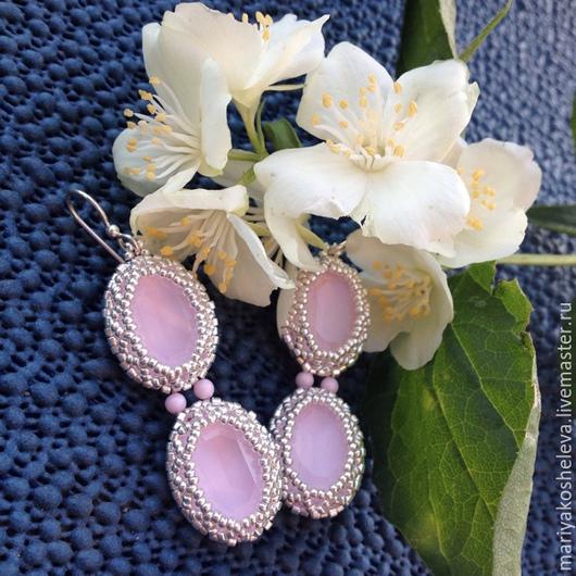 """Серьги ручной работы. Ярмарка Мастеров - ручная работа. Купить Серьги """"Розовый пион"""". Handmade. Невеста, пионы розовые"""
