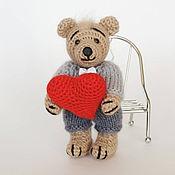 Куклы и игрушки ручной работы. Ярмарка Мастеров - ручная работа Мишка с сердцем. Handmade.