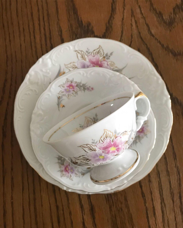 Винтаж: -20% Фарфоровое Чайное трио Krister (Rosenthal) Wawel Середина 20 в, Винтажные кружки, Штутгарт, Фото №1