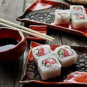 Посуда handmade. Livemaster - original item A set of rolls. A set of SUSHI. ceramic handmade. Handmade.