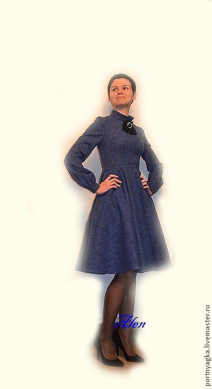 Платья ручной работы. Ярмарка Мастеров - ручная работа. Купить Платье Гимназистка. Handmade. Тёмно-синий, жаккард