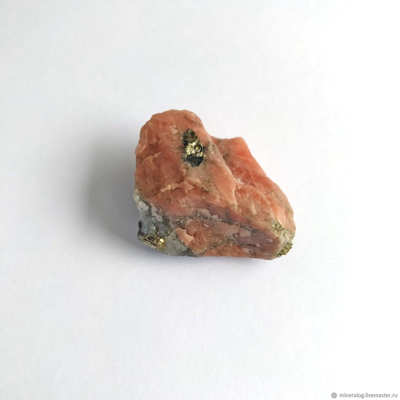Родохрозит с пиритом, природный минерал, Минералы, Москва,  Фото №1
