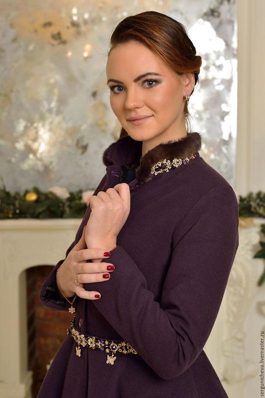 """Верхняя одежда ручной работы. Ярмарка Мастеров - ручная работа. Купить Пальто""""Violet Doll"""". Handmade. Красивое пальто, тёмно-фиолетовый"""