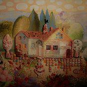 Картины и панно ручной работы. Ярмарка Мастеров - ручная работа Домик в Тоскане. Handmade.